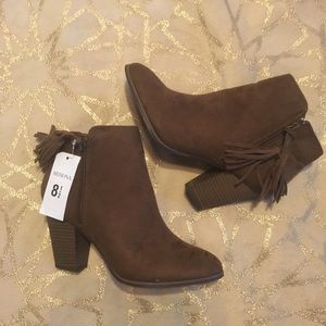 NWT Brown Booties